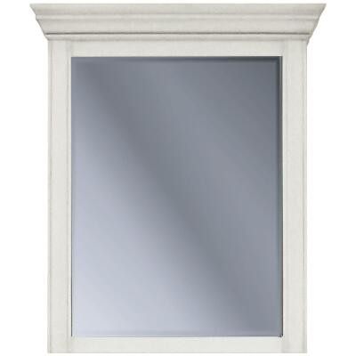 Sunny Wood Bristol Beach White 27 In. W x 32 In. H x 6-1/2 In. D Single Mirror Surface Mount Medicine Cabinet