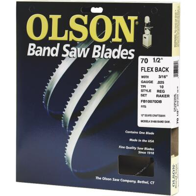 Olson 70-1/2 In. x 3/16 In. 10 TPI Regular Flex Back Band Saw Blade