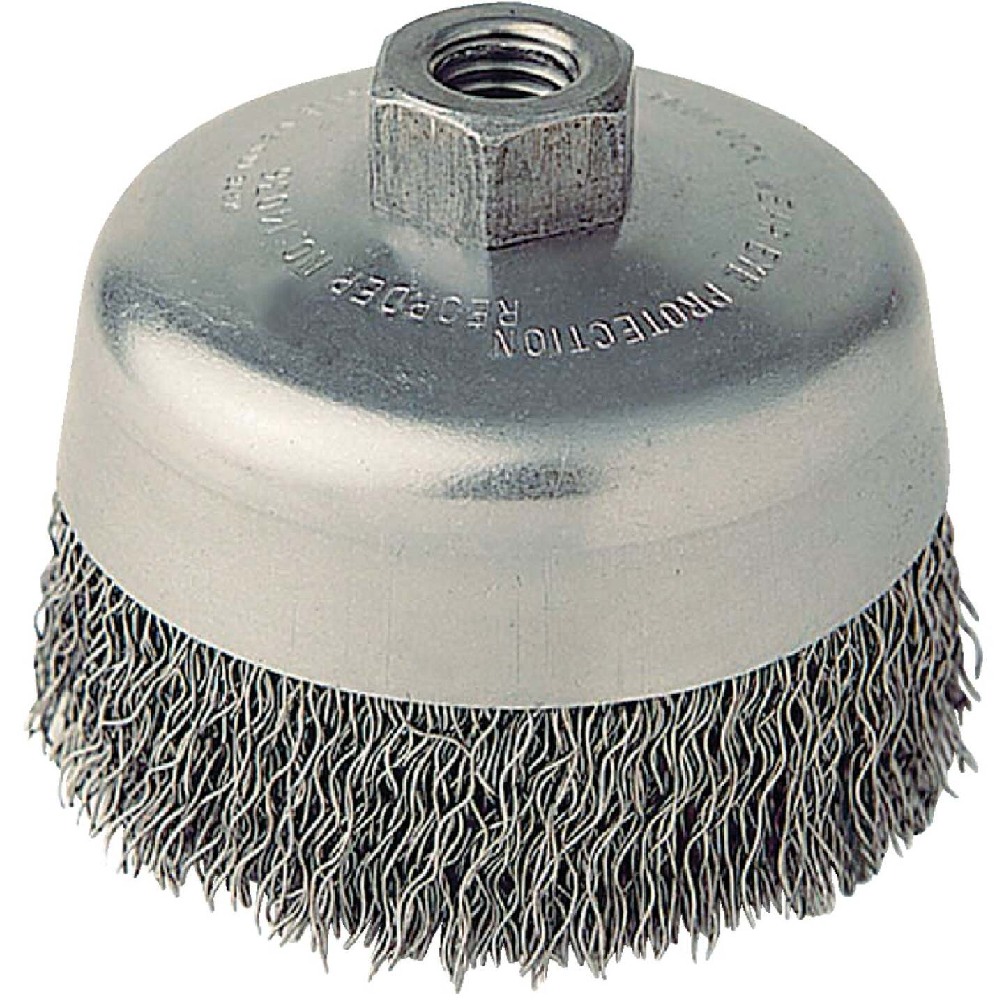 Weiler Vortec 5 In. Crimped 0.02 In. Angle Grinder Wire Brush Image 1