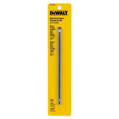 DeWalt Slotted #8-10 6 In. 1/4 In. Power Screwdriver Bit